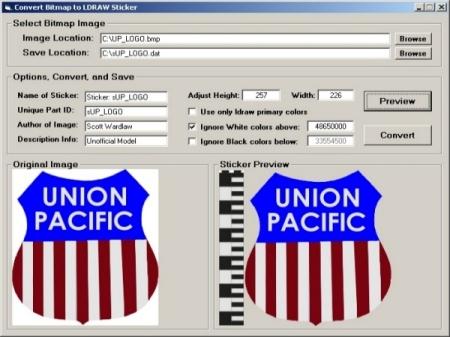 Screenshot of program